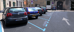 parking stationnement zone bleue