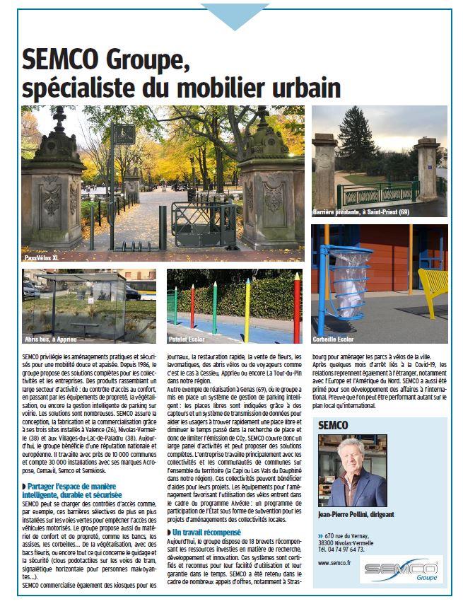 2021.03 Article Le Dauphiné publi SEMCO 38